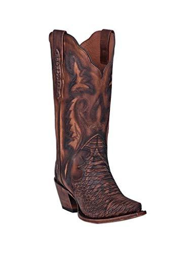 Dan Post Women's Lauryn Western Boot Snip Toe Brown 10 M