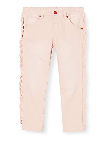 Brums Baby-Mädchen Pants Denim Color Stretch Con Rouches Jeans, Pink (Rosa Chiaro 07 016), 80 (Herstellergröße: 12M)