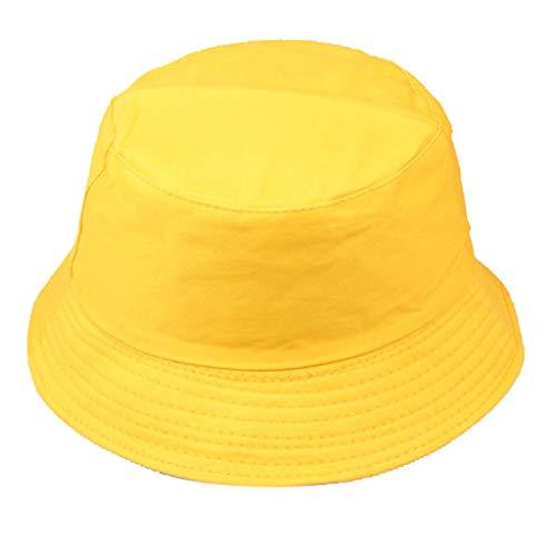 Mujeres Hombres Unisex Sombrero De Pescador Moda Salvaje Gorra De ProteccióN Solar Al Aire Libre Amarillo