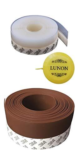シリコン 製 隙間テープ 25mm×5m 半透明 ブラウン 2色 セット メジャー付 防音 すきま風 花粉 ホコリ 防止 玄関 ドア 省エネ