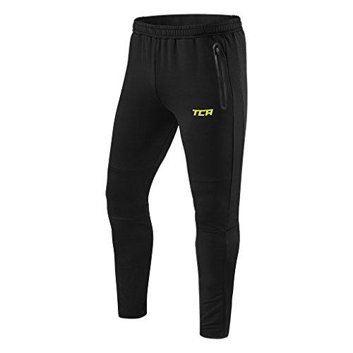 TCA Rapid Herren Quickdry Trainingshose/Jogginghose mit Reißverschlusstaschen - Schwarz, L