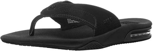 Reef Men's Fanning Flip Flop, ALL BLACK, 12 D-Medium