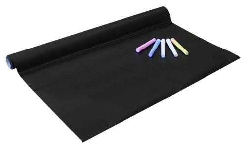 Idena 260025 - Tafelfolie selbstklebend, inklusive 4 Kreiden, 45 x 200 cm, schwarz