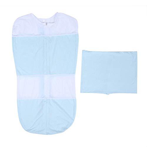 Imagen para Baby Summer Sleep Bag Bebés Niños Niñas Mantas Portátiles Saco de dormir Swaddle Transition Sleeping Bag(M-Azul)