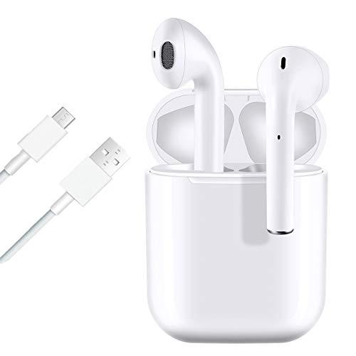 i12 TWS Auricular Bluetooth 5.0, Auricular inalámbrico, micrófono Incorporado y Caja de Carga, reducción de Ruido estéreo 3D, Adecuado para Auriculares iPhone/Android/Airpods/Xiaomi/Samsung