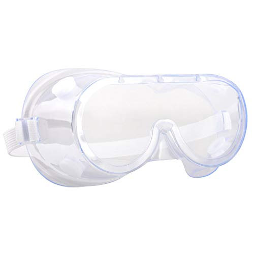 Lekzai Protective Safety Goggles Splash Safety Goggles Adjustable Goggles Crystal Clear & Anti-Fog Design - High Impact Resistance - Perfect Eye Protection for Lab Home Classroom Workplace