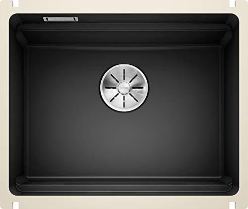 BLANCO ETAGON 500-U - Keramikspüle für die Küche für 60 cm breite Unterschränke - Unterbau - aus Keramik - Schwarz - 525155