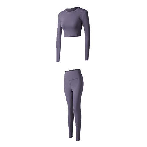 N\P La primavera y el verano de las mujeres del traje de deporte de la mujer de cintura alta pantalones de fitness