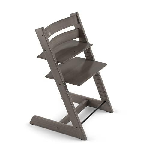 TRIPP TRAPP sedia evolutiva per neonati, bambini, adulti │ Seggiolone in legno di faggio regolabile in altezza │ Colore: Hazy Grey