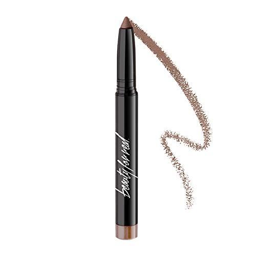 Beauty For Real Shadow Stx Midnight Marathon  Universal Topaz Caramel Shimmer  Waterproof CreamtoPowder Eyeshadow Stick  Builtin Sharpener  005 oz