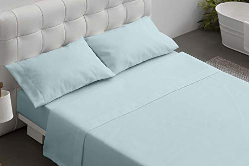 Burrito Blanco Juegos de sábanas hostelería Azul, Mezcla T12