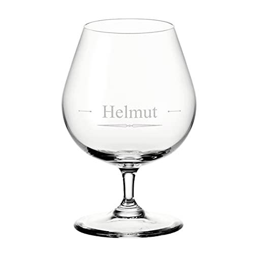 Leonardo Cognacglas mit personalisierten Wunschmotiv - 400 ml groß - spülmaschinenfest - Cognac, Whisky - Kristallglas - Männergeschenk - Geburtstag - Motiv Classic