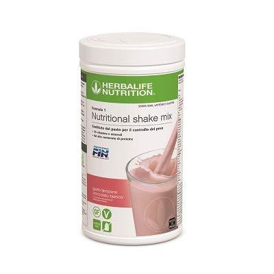 Herbalife Frullato Formula 1 Nutritional shake mix - Sostituto del pasto per il controllo del peso - Lampone Cioccolato Bianco - 550g