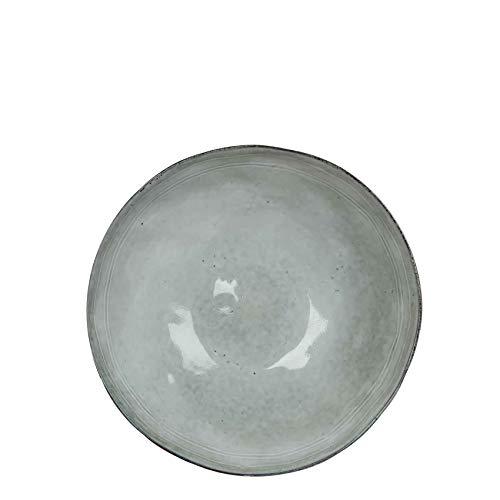 Teller Tabo Keramik rund grau - Ø 26,5 x H 3 cm - Essteller