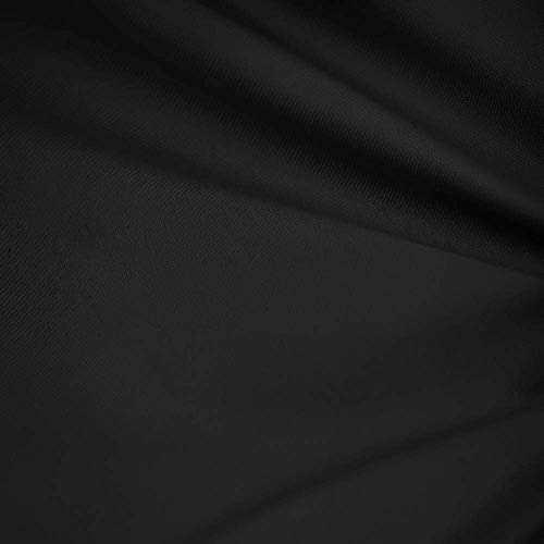 Black 60' Wide Premium Cotton Blend Broadcloth Fabric by The Yard by Fabric Bravo