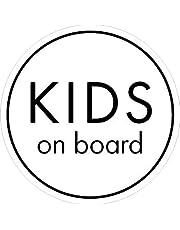 Baby Kids on Board 防水ステッカー シンプルデザイン 円形 直径12.5cm natural_03