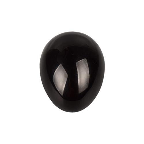HEALIFTY Esfera de huevo de piedras preciosas de obsidiana para el equilibrio de Chakra de meditación curativa (negro)