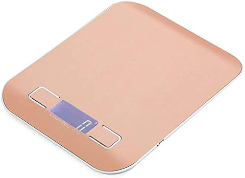 PJPPJH Básculas para Hornear Básculas de Cocina Báscula de Cocina Digital Báscula de precisión Básculas de Cocina Escala de miligramos Báscula de nutrición Oro Rosa, 5kg1g