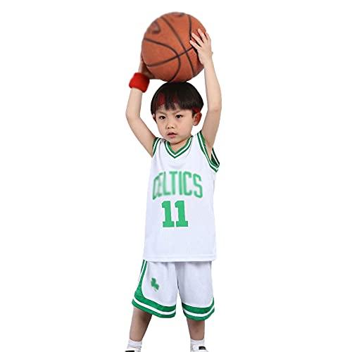 LOVECAP Irving # 11 Kids Ballball Jersey Jersey, 11# Irving Boys/Girls Chaleco + Shorts Ropa de Entrenamiento de Baloncesto, Adecuado para Altura 85-165cm White-M