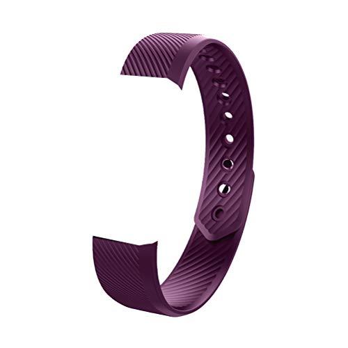 Silikon Ersatzband Uhr Schnalle Zubehör Armbänder Sport Ersatzband für Smart Armband ID115 / ID115 Lite / ID115 HR (Lila)