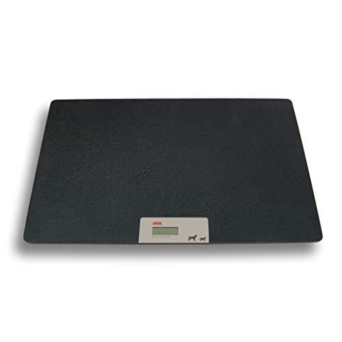 ADE MV302600 Digitale Veterinärwaage XL 85 x 62 cm Tierwaage Hundewaage Plattform-Waage bis 100 kg, XL, Schwarz