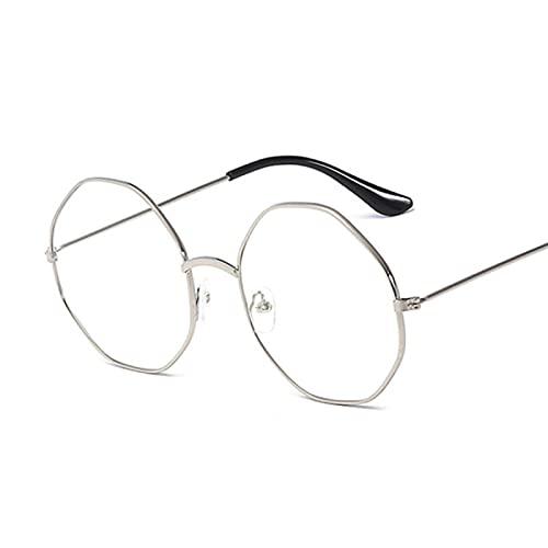 Gafas De Moda Gafas De Sol Monturas De Gafas para Mujer Montura De Gafas Redondas De Metal Lente Transparente Gafas Negro Plata Oro Cristal De O