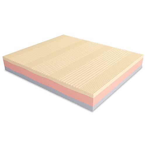 Baldiflex Emporio Materasso Matrimoniale Memory 3 Strati Arcobaleno Super Big 160 x 190 cm - Aloe Vera
