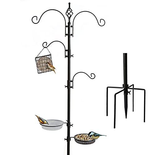 Bird Feeding Station Kit 230cm Height Bird Feeder Stand Wild Bird Feeder...