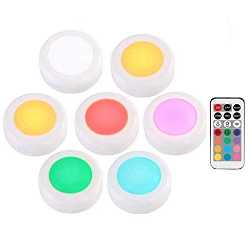 GYC Lampada da Armadio 12 Colori Lampada da Armadio con Telecomando Luci a LED dimmerabili Puck Light Touch Wireless, luci Memory Stick Luci alimentate a Batteria (Colore: modificabile)