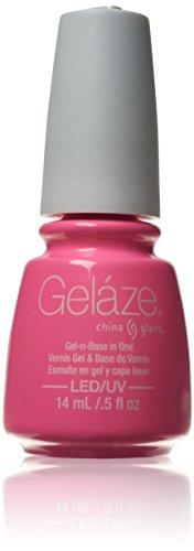 China Glaze Gel Polish Gelaze Gel-n-Base in One, Bottoms Up .5oz