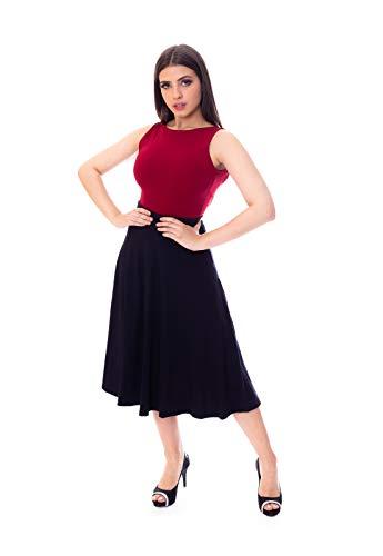 Saia Moda Vício Mídi Godê Feminino Tamanho:GG;Cor:Preto;Gênero:Mulher
