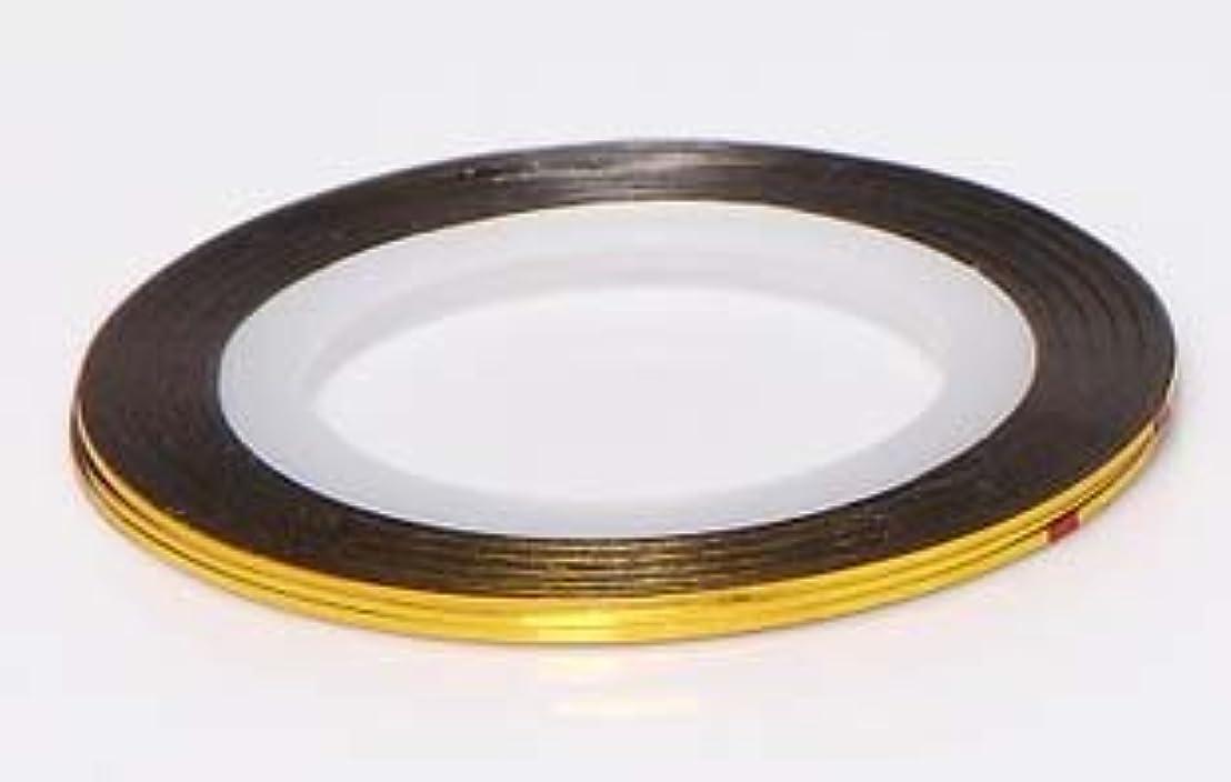 手書きピラミッド靴下【ラインストーン77】 ラインテープ 1mm 金色
