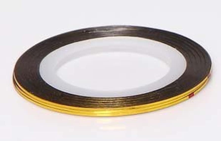 サポート思いやりスタック【ラインストーン77】 ラインテープ 1mm 金色