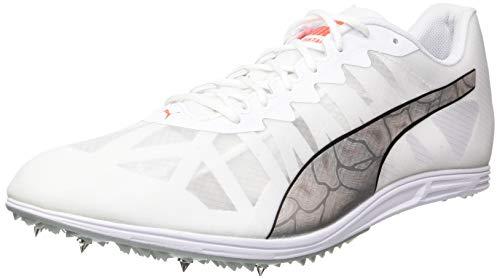 PUMA Evospeed Distance 9, Zapatillas de Atletismo Hombre, Blanco White Silver-Lava Blast, 43 EU