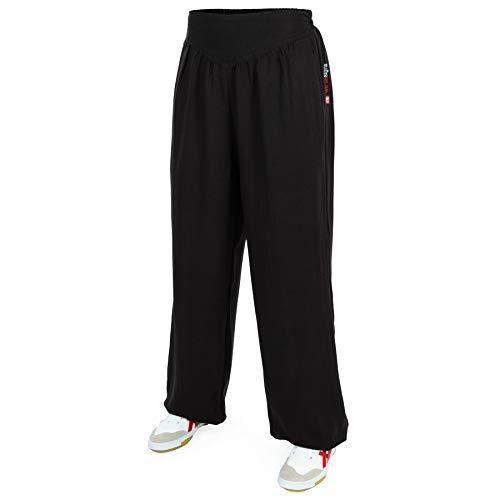 wu designs Baumwolle (Leicht) Damen Kung Fu & Yoga Trainingshose Grau 175
