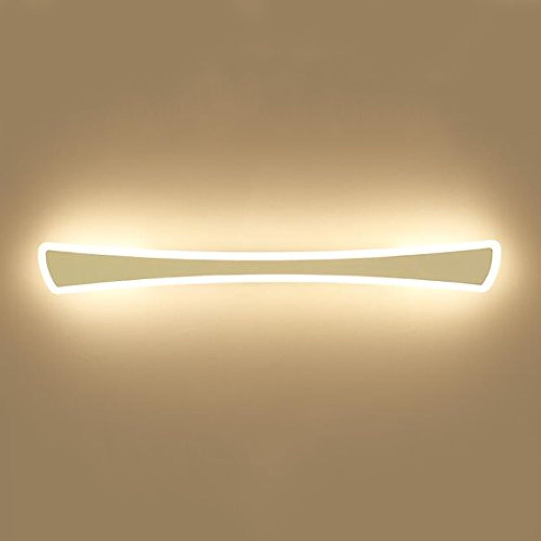 HAKN LED wasserdicht Anti-Fog-Spiegel Frontleuchte Badezimmer Spiegel Licht Wandleuchte einfache Spiegel Schrank Dressing Tischlampe (Farbe   Warmes Licht-40cm-12W)