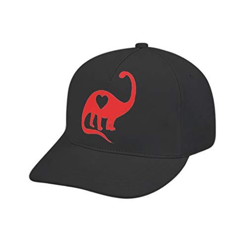 XJJ88 - Gorra de béisbol para hombre, diseño de dinosaurio, diseño de corazón, Unisex adulto, blanco, adult printing bended rubber