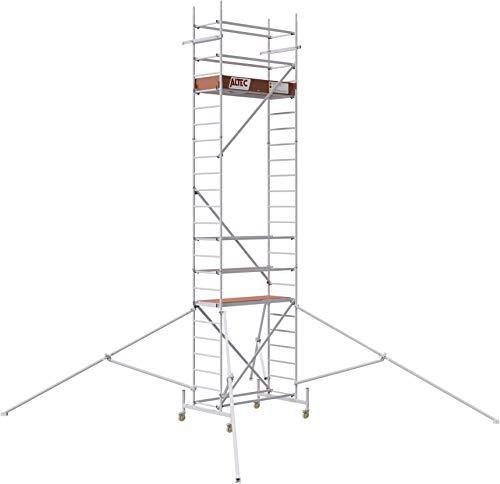 ALTEC Rollfix® 1.0 700 | 7m AH | Rollen (Ø125mm) | Standardtraverse | Dreieckausleger | Made in Germany | TÜV&GS | belastbar 200kg/m² | Alu Arbeitsgerüst | Baugerüst | Fahrgerüst