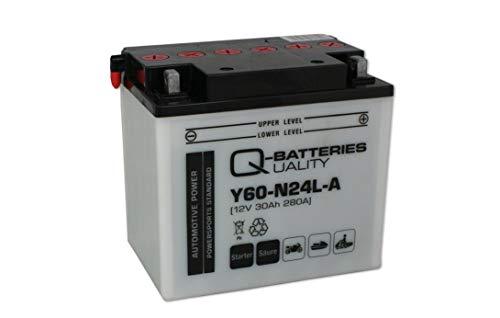 Q-Batteries Motorrad-Batterie Y60-N24L-A 530 30 12V 30Ah 280A