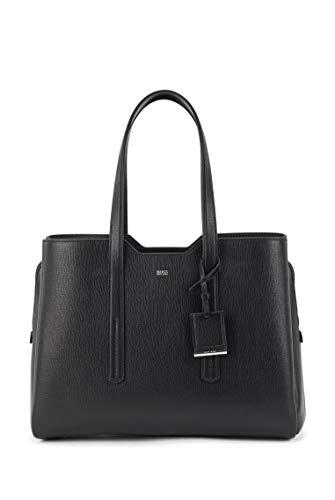 BOSS Damen Taylor Business Tote Tote Bag aus genarbtem italienischem Leder mit Reißverschluss