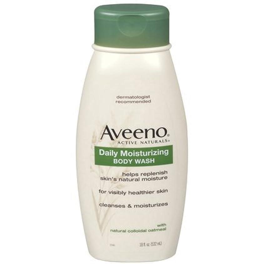 くちばし欠陥円形Aveeno Daily Moisturizing Body Wash - 18 Oz by Aveeno