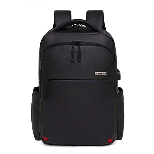 Travel Laptop Backpack Rucksack Anti-Theft Business Work Bag Usb Charging Port College School Computer Luggage Daypacks For Womens Mens Students Gifts-Black