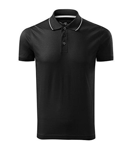 OwnDesigner by Adler Modisches Herren Poloshirt Grand - Super Premium Stoff & Shirt Schnitt | 100% merzerisierte Baumwolle Seidenglanz | S - XXXL (259-Schwarz-L)