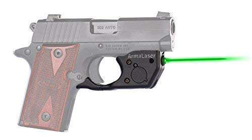 ArmaLaser Designed to fit SIG P238 P938 TR8G Super-Bright Green Laser Sight with Grip Activation