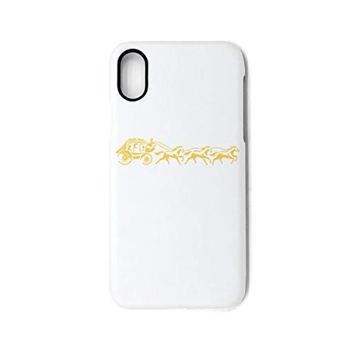 for iPhone X Case Wells-Fargo-Yellow-Carriage-Logo-Popular Skid-Proof TPU Rubber Frame Hard PC Back Shell