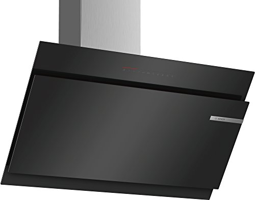 Bosch DWK97JQ60 Serie 6 Wandesse / A / 90 cm / Klarglas Schwarz / wahlweise Umluft- oder Abluftbetrieb / TouchSelect Bedienung / Silence / PerfectAir / Metallfettfilter (spülmaschinengeeignet)