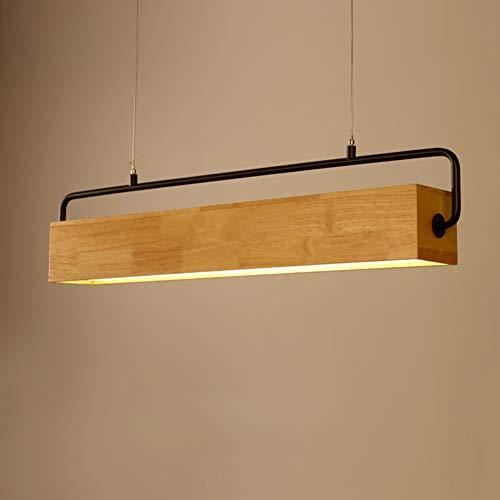 LED Pendelleuchte Holz Lampe Einfache und Moderne Kronleuchter im Nordischen Stil Hängeleuchte Deckenleuchten für Esszimmer und Wohnzimmer, 3500Kelvin 72CM 1680Lumen
