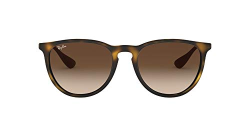 Ray-Ban Women's RB4171 Erika Round Sunglasses, Dark Rubber...