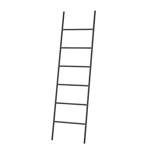 QULONG Soporte de Toalla de baño, Pared Trapezoidal Half Escalera Percha de Hierro Abrigo Colgante, Balcón de Cocina Dormitorio Accesorio Decoración,Negro