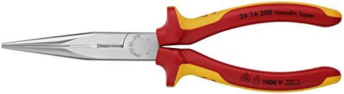Knipex 26 16 200 SB Flachrundzange mit Schneide Länge: 230 mm